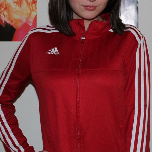 Adidas Stripe Women's S Jacket Three Red n0kXwO8P